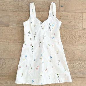 Parker floral denim dress white size 4